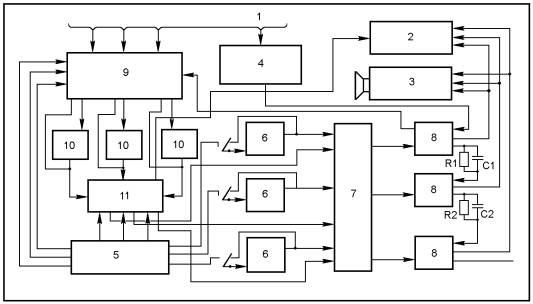 Рис. 1. Функциональная схема устройства. для включения световой...